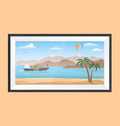 Picture in a frame orient tale cartoon style vector
