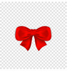 red bow isoltaed on transparent background vector image
