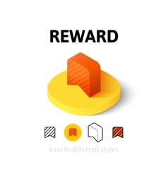 Reward icon in different style vector