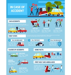 Road accidents infographic set vector