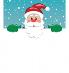 Santa with blank paper vector image