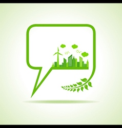 Save nature concept - vector image