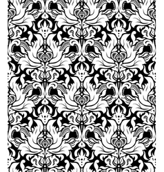 Seamless monochrome damask vintage pattern vector