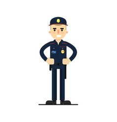 Security man in uniform vector