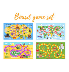 Set kids boardgame vector