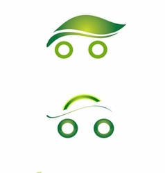 Set of Safety eco cars art vector image