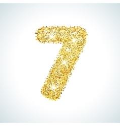 Seven number in golden style vector