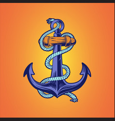 ship anchor nautical hand drawn vector image