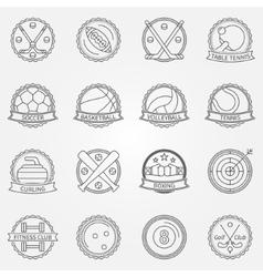 Sport labels vector