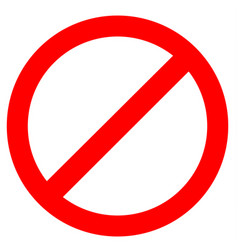 stop sign icon on white background vector image