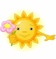 summer sun vector image