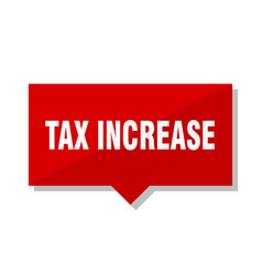 tax increase red tag vector image
