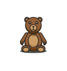 teddy bear funny cartoon character sitting vector image