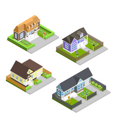 Town houses composition vector