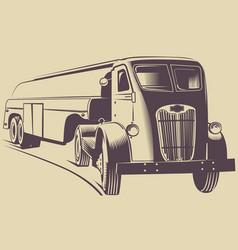 Truck 1945 monochrome print vector