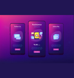 User guide app interface template vector