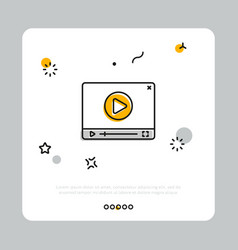 video player button on white vector image