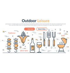 web site header - outdoor leisure vector image