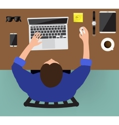 Workplace concept Flat design vector