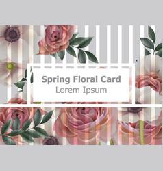 vintage spring flowers background roses vector image
