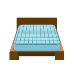comfortable mattress for sleeping on the bed vector image