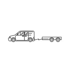 line art transport icon - car vector image