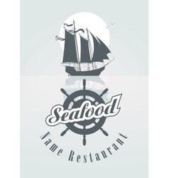 menu for the seafood vector image vector image