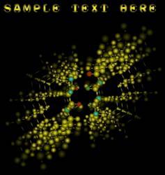 molecule binding vector image vector image