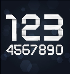 Paper Font Digits vector image vector image