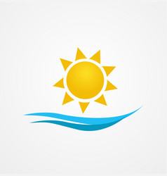 sunrise sun vector image