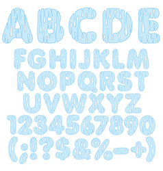 alphabet letters numbers and signs from drops vector image
