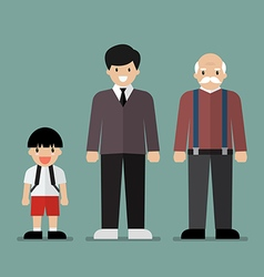 Generation of men vector image
