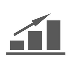 new chart icon simple vector image vector image