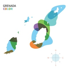 Abstract color map of Grenada vector image