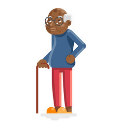 african american european old man adult vector image
