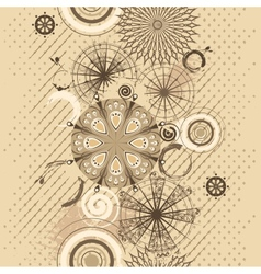 beige circles grunge seamless background vector image vector image
