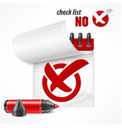 checkmark on checklist vector image vector image