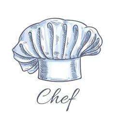 Chef hat isolated doodle sketch icon vector image