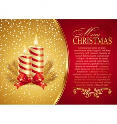 christmas illustration with holidays candles vector image vector image