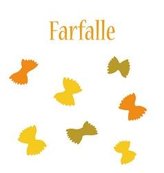 Farfalle vector image vector image