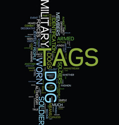 Military dog tags text background word cloud vector