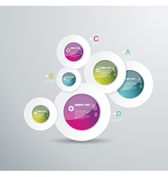 Modern circle background vector image vector image