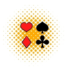 Playing card suit in black and red icon vector image vector image