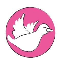 symbol dove icon image design vector image