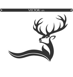 abstract deer logo vector image