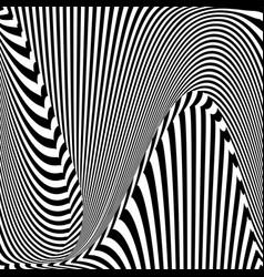 Abstract op art pattern vector