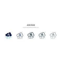 Acid rain icon in different style two colored vector