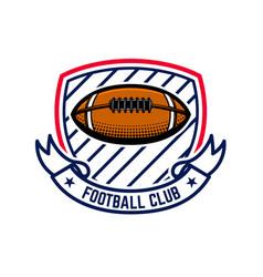 american football emblem template design element vector image