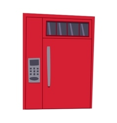 Bank safe door isolated vector