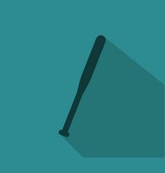 Baseball bat icon vector
